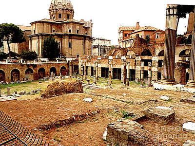Photograph - The Roman Forumn In Rome, Italy by Merton Allen