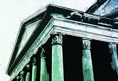 Painting - The Roman Pantheon - 03 by Andrea Mazzocchetti
