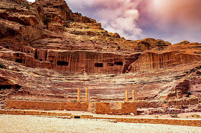 Photograph - The Roman Theater At Petra by Boyce Fitzgerald