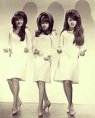 Rock And Roll Royalty-Free and Rights-Managed Images - The Ronettes by John Springfield