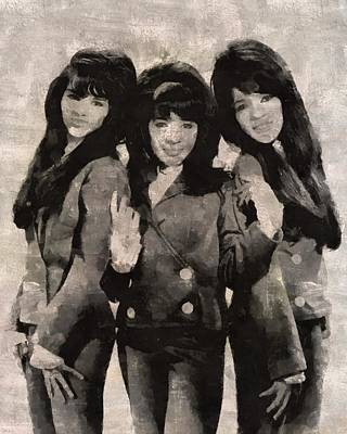 The Ronettes Art Print by Mary Bassett