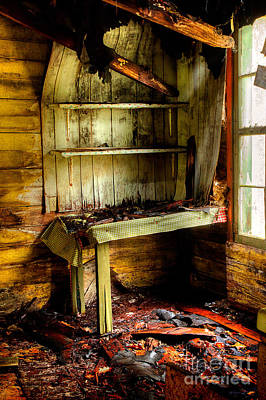 Abandoned Elkmont Wall Art - Photograph - The Roof Is Falling by Michael Eingle