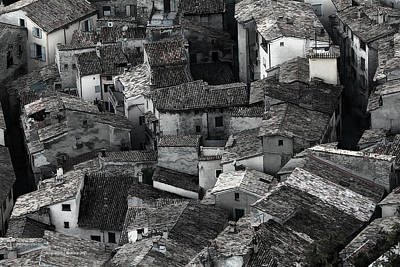 Photograph - The Roofs Of Entrevaux by Aleksander Rotner