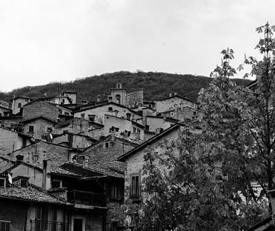 The Roofs Of Scanno - Italy  Print by Andrea Mazzocchetti