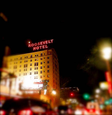 Photograph - The Roosevelt Hotel By David Pucciarelli  by Iconic Images Art Gallery David Pucciarelli