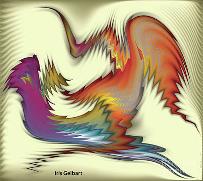 Digital Art - The Rooster by Iris Gelbart