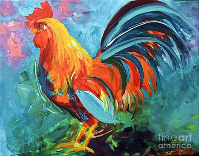 Painting - The Rooster by Tom Riggs