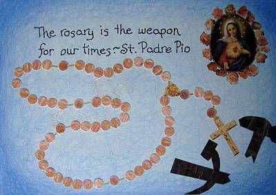 Immaculate Mixed Media - The Rosary by Margie Leeper
