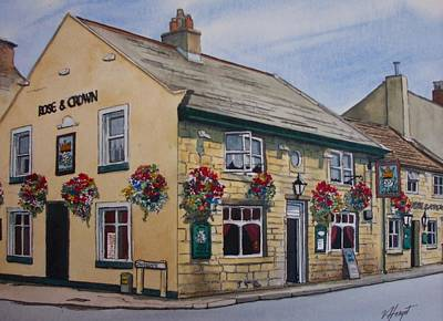 The Rose And Crown Otley Yorkshire Art Print by Victoria Heryet