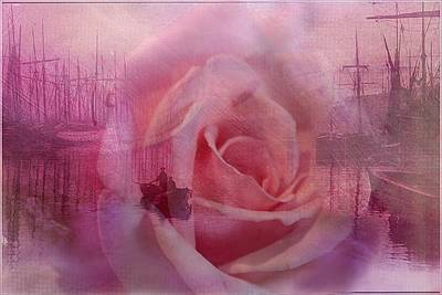 The Rose And The Sea Art Print