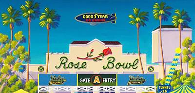 College Football Painting - The Rose Bowl by Frank Strasser