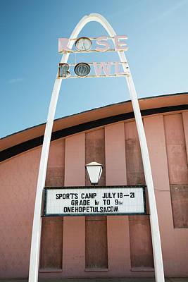 Photograph - The Rose Bowl - Historic Route 66 Tulsa Oklahoma by Gregory Ballos