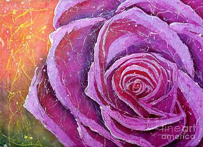 Mixed Media - The Rose by Carol Losinski Naylor