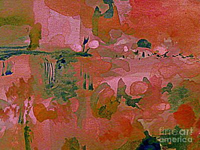 Digital Art - The Rose Colored World by Nancy Kane Chapman
