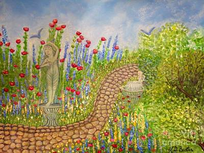 Painting - The Rose Dancer Garden Of Victorian Delight by Kimberlee Baxter