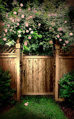 The Rose Door Print by Diana Angstadt