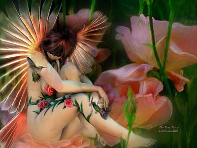Fantasy Mixed Media - The Rose Fairy by Carol Cavalaris