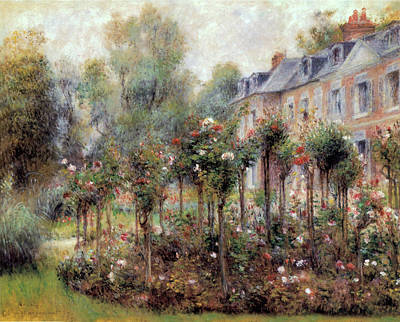 Photograph - The Rose Garden At Wargemont by Pierre Auguste Renoir