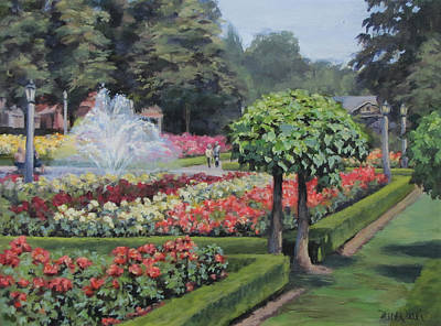 Painting - The Rose Garden by Karen Ilari
