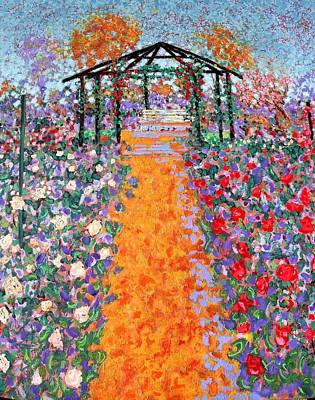 The Rose Garden Art Print by Richard Tuvey