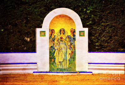 Art Print featuring the photograph The Rose In The Garden - Seville by Mary Machare