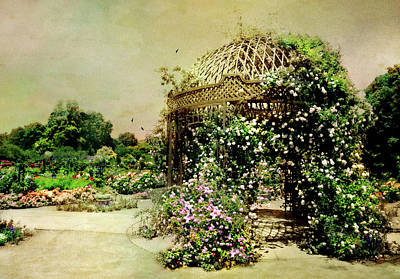 The Rose Pavilion Art Print by Diana Angstadt