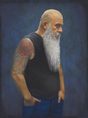 Painting - The Rose Tattoo by Rita Romero