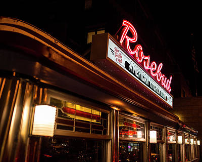 Photograph - The Rosebud Diner Davis Square Somerville Ma by Toby McGuire