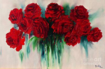 Painting - The Roses Of My Summer by AmaS Art