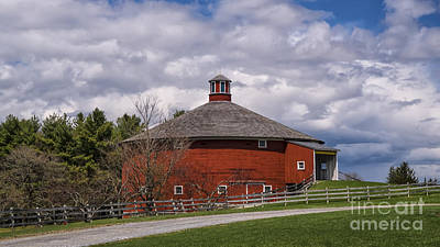 Photograph - The Round Barn by Scenic Vermont Photography