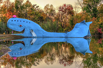Photograph - The Route 66 Blue Whale - Catoosa Oklahoma - II by Gregory Ballos