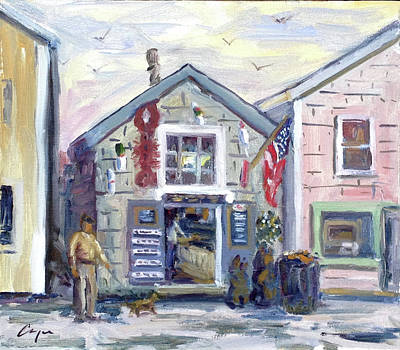 Motif 1 Painting - The Roy Moore Lobster Company by Chris Coyne