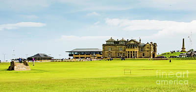 Photograph - The Royal And Ancient Golf Club In St Andrews And The Bridge by MaryJane Armstrong