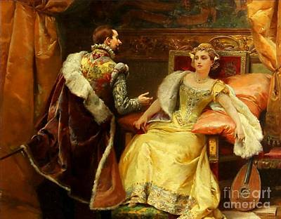 Cesare Painting - The Royal Audience by MotionAge Designs