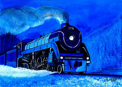 Painting - The Royal Blue Express by Pj Artman
