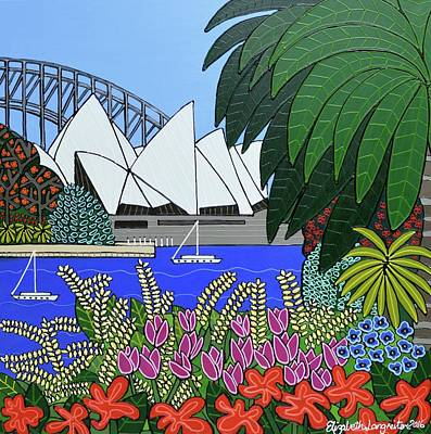 Painting - The Royal Botanical Gardens Sydney      by Elizabeth Langreiter