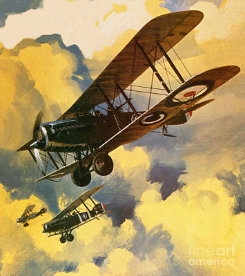 World Wars Painting - The Royal Flying Corps by Wilf Hardy