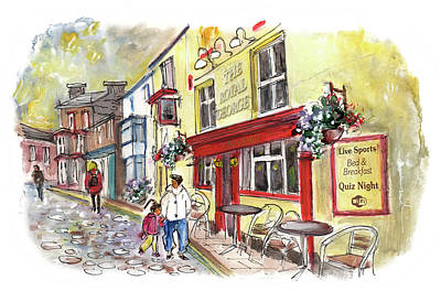 Yorkshire Drawing - The Royal George In Staithes by Miki De Goodaboom