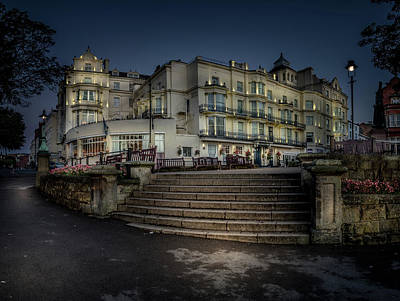 The Royal Hotel. Scarborough. Before Sunrise. Print by Cliff Miller