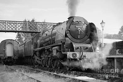 Photograph - The Royal Scot In Black And White by David Birchall