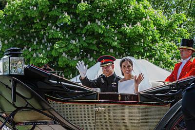 Photograph - The Royal Wedding Harry Meghan by Andy Myatt