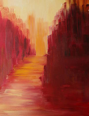 Painting - The Ruby Way by Julie Lueders