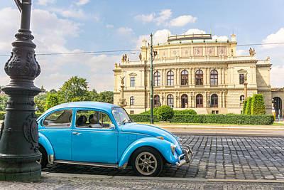 Prague Photograph - The Rudolfinium In Prague by Jim Hughes