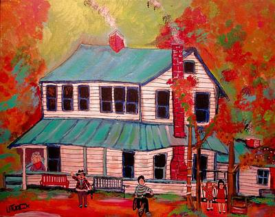 New Glasgow Painting - The Rudys And The Big House by Michael Litvack