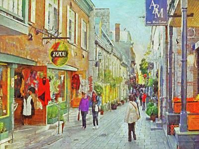 The Rue Du Petit Champlain In Quebec City Art Print
