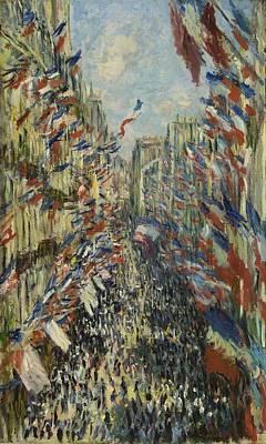 Painting - The Rue Montorgueil In Paris by Claude Monet