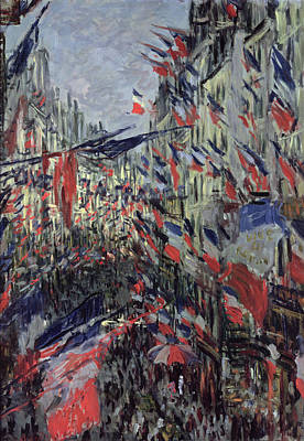 Parade Painting - The Rue Saint Denis by Claude Monet