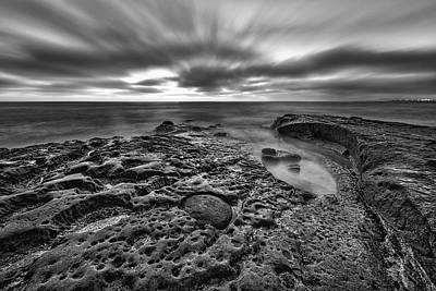 Photograph - The Rugged California Coast - Black And White by Photography  By Sai