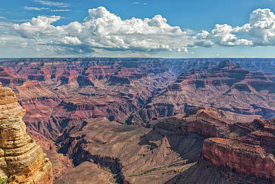 Photograph - The Rugged Grand Canyon by John M Bailey