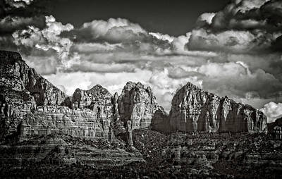Photograph - The Rugged Red Rocks In Black And White  by Saija Lehtonen